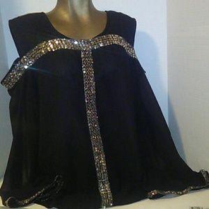 ASHRO Ladies Sequins Blouse